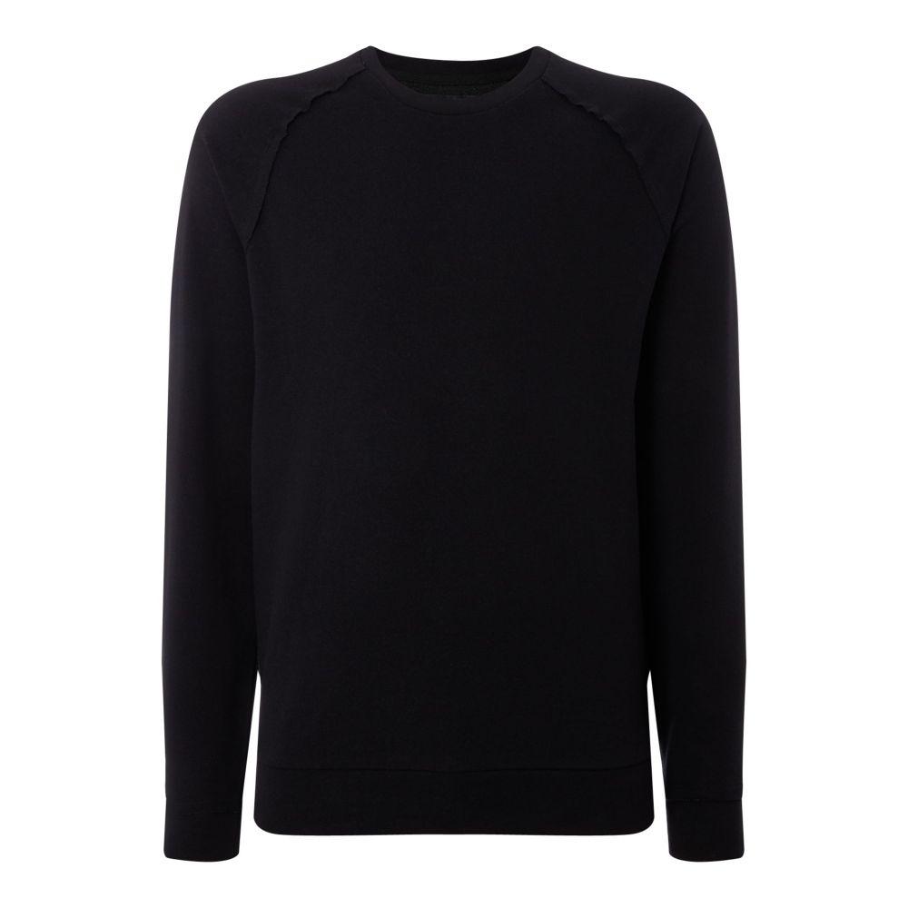 レーベルラボ Label Lab メンズ トップス Tシャツ【Aquarius Raw Edge Sweat Top】black