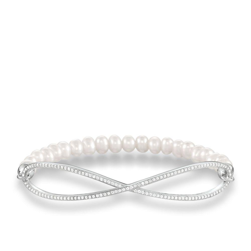 トーマスサボ Thomas Sabo レディース ジュエリー・アクセサリー ブレスレット【Love Bridge Pave Infinity Pearl Bracelet】white