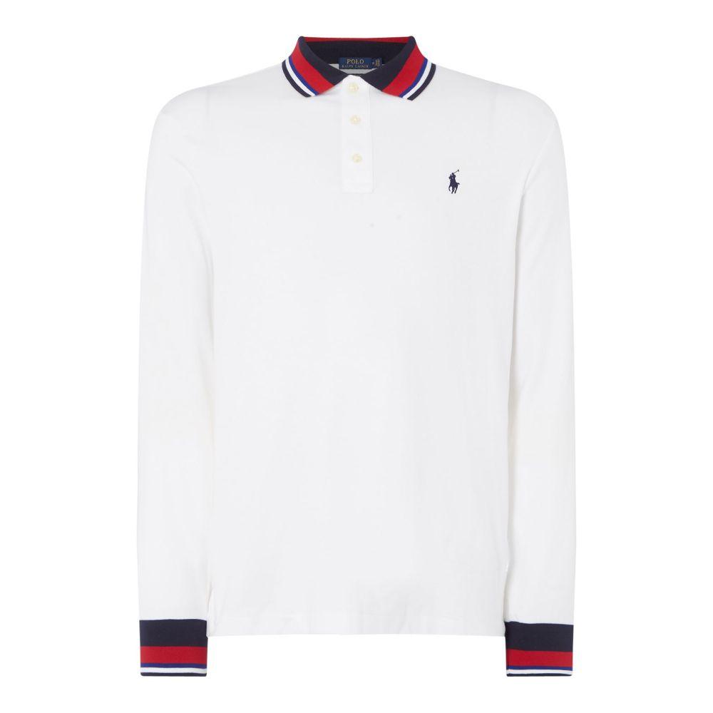 ラルフ ローレン Polo Ralph Lauren メンズ トップス ポロシャツ【Pima Bold Topping Polo】white