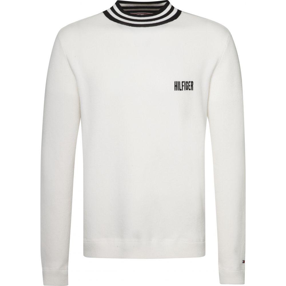トミー ヒルフィガー Tommy Hilfiger メンズ トップス スウェット・トレーナー【Stripe Neck Sweatshirt】white