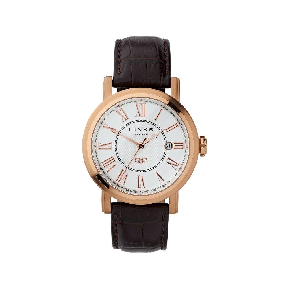 リンクス オブ ロンドン Links of London メンズ 腕時計【Richmond White Dial Watch】rose gold