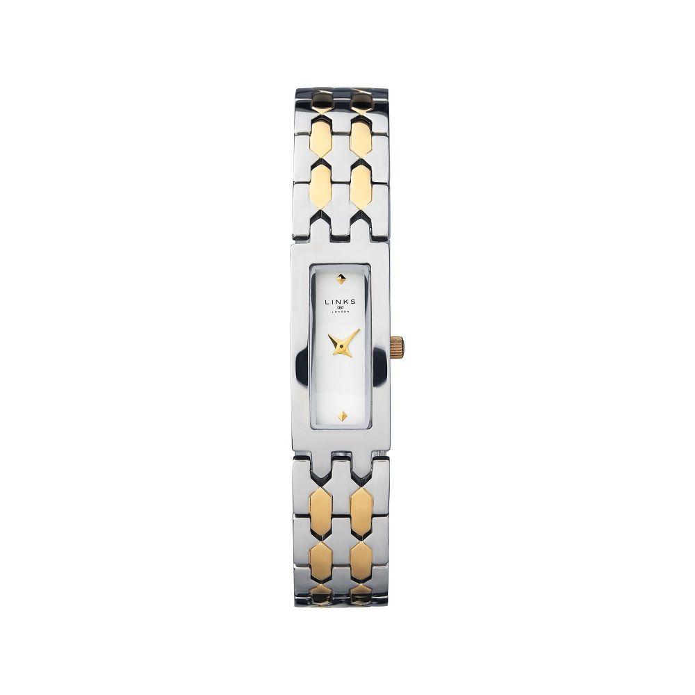 リンクス オブ ロンドン Links of London レディース 腕時計【Selene Stainless Steel & Yellow Gold Tone Watch】silver