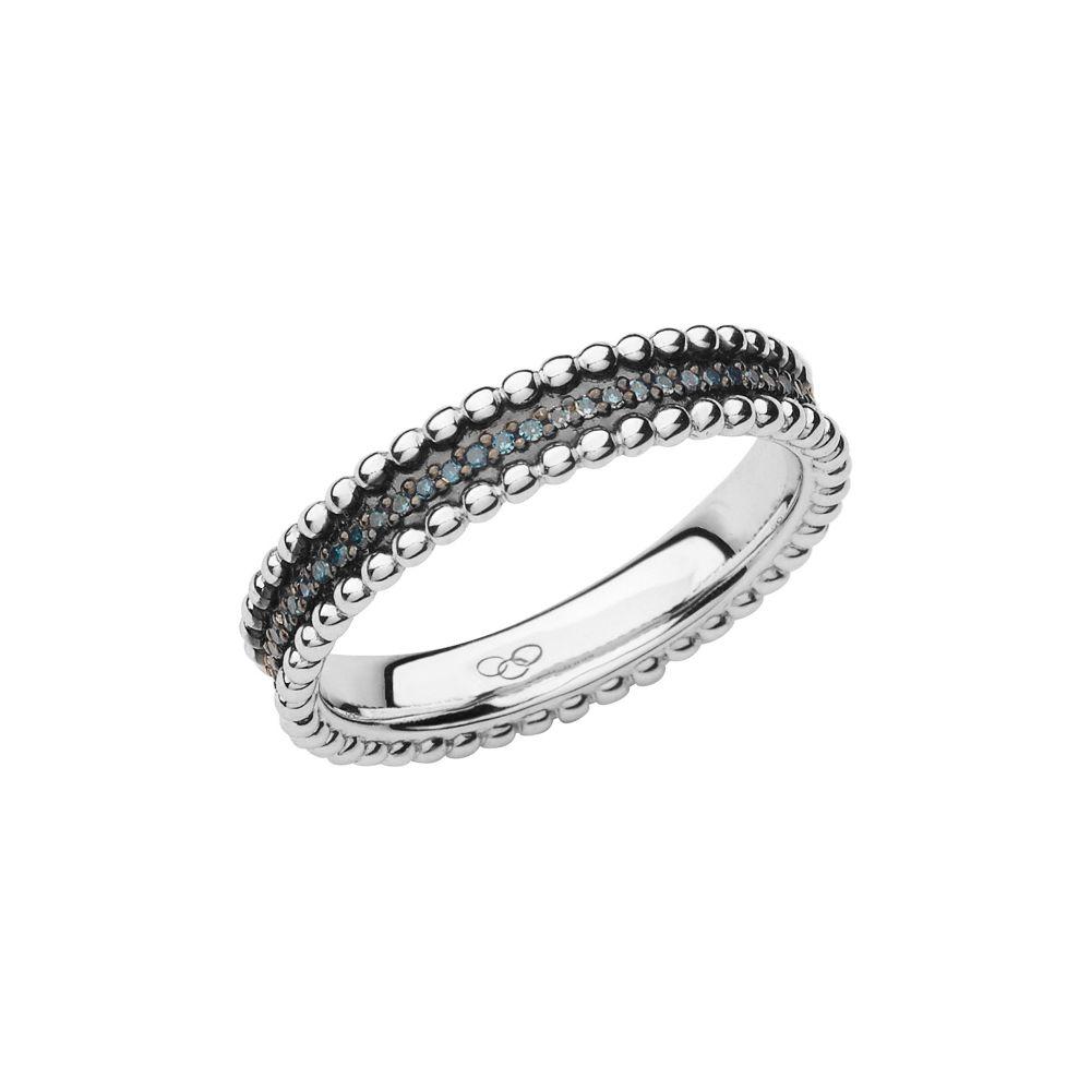 リンクス オブ ロンドン Links of London レディース ジュエリー・アクセサリー 指輪・リング【Effervescence Blue Diamond Band Ring】silver