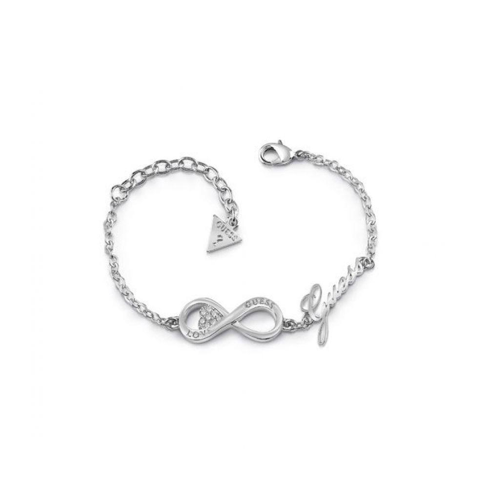 ゲス Guess レディース ジュエリー・アクセサリー ブレスレット【Infinity &amp- Heart Bracelet】silver