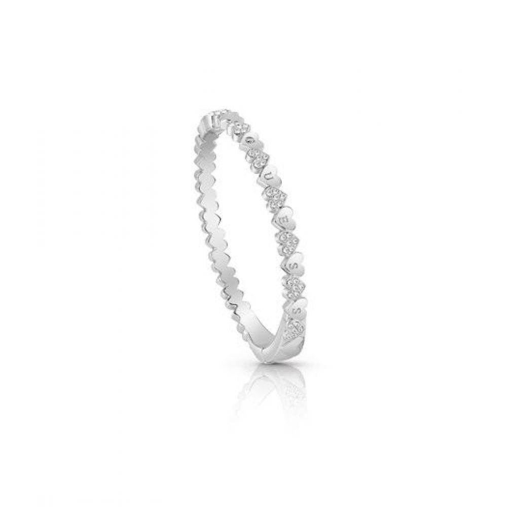 ゲス Guess レディース ジュエリー・アクセサリー ブレスレット【Multiple Small Hearts Bangle Bracelet】silver