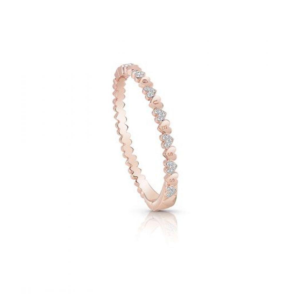 ゲス Guess レディース ジュエリー・アクセサリー ブレスレット【Multiple Small Hearts Bangle Bracelet】rose gold