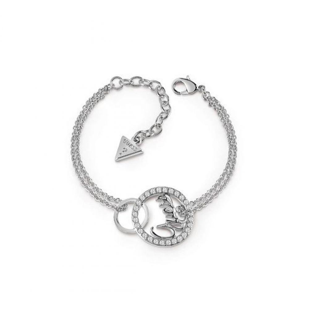 ゲス Guess レディース ジュエリー・アクセサリー ブレスレット【Interlocking Circles Bracelet】silver