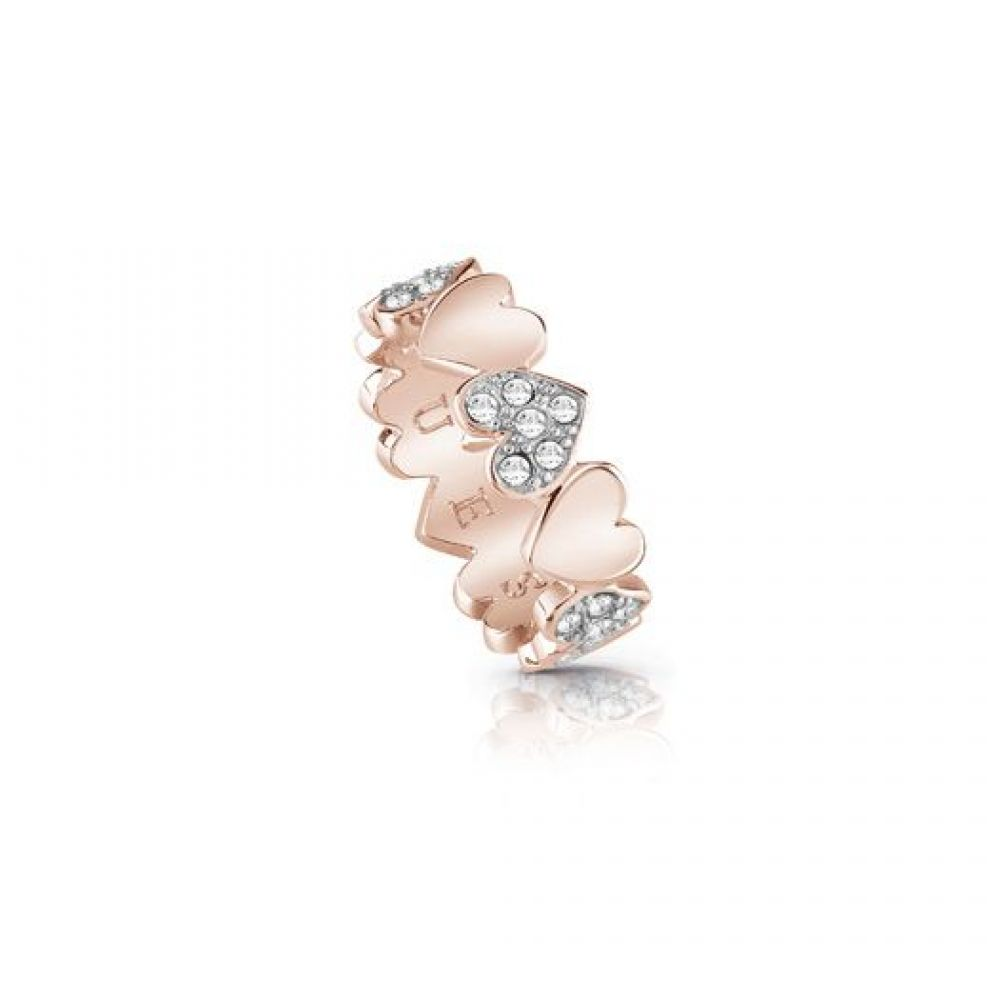 ゲス Guess レディース ジュエリー・アクセサリー ブレスレット【Multiple Pave & Plain Bangle Bracelet】rose gold
