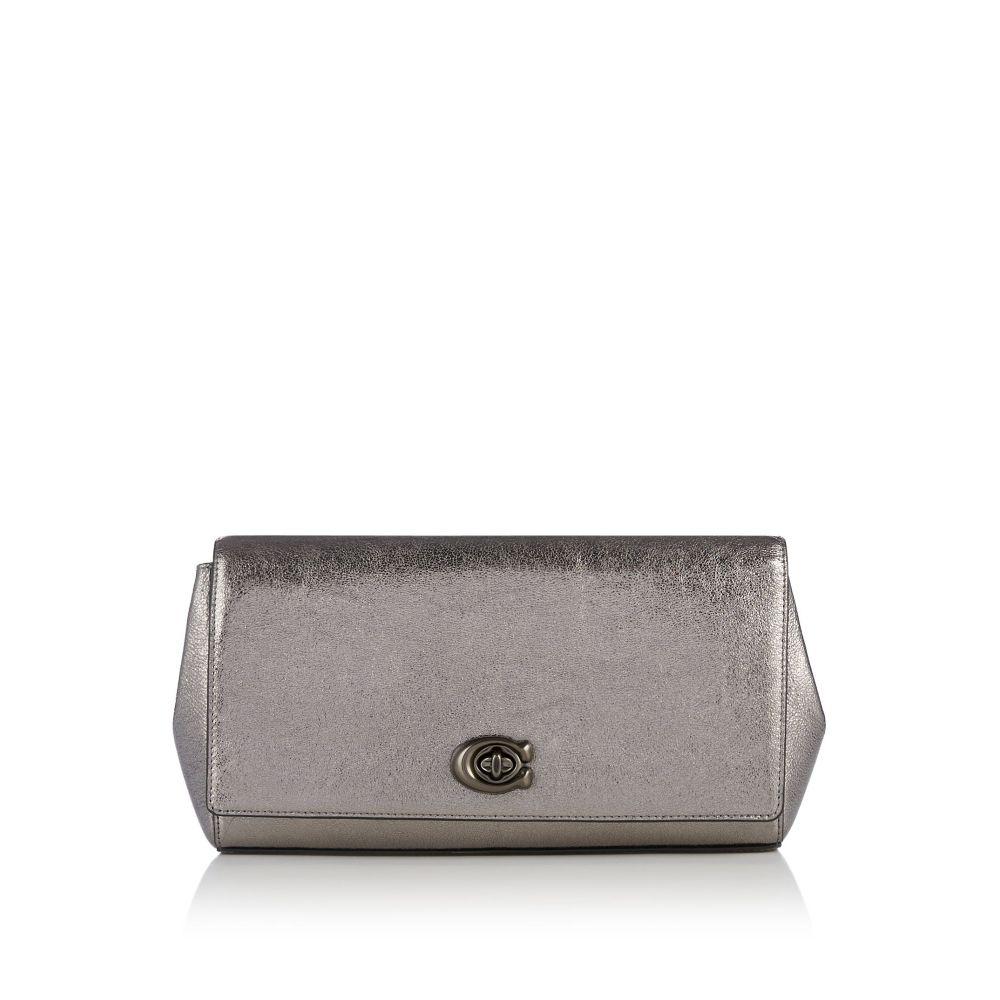 コーチ Coach レディース バッグ クラッチバッグ【Metallic Leather Evening Clutch Bag】silver