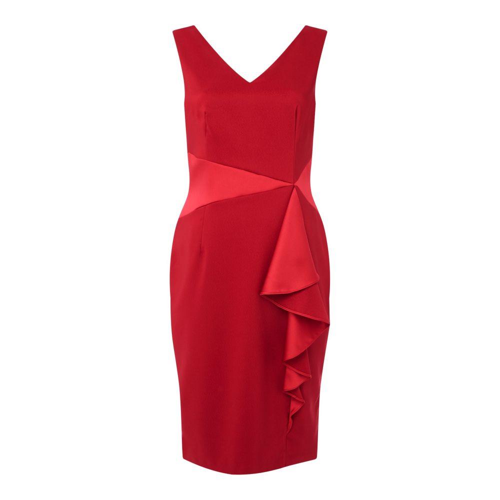 アリエラ Ariella レディース ワンピース・ドレス ボディコンドレス【Satin Ruffle Panel Bodycon Dress】red