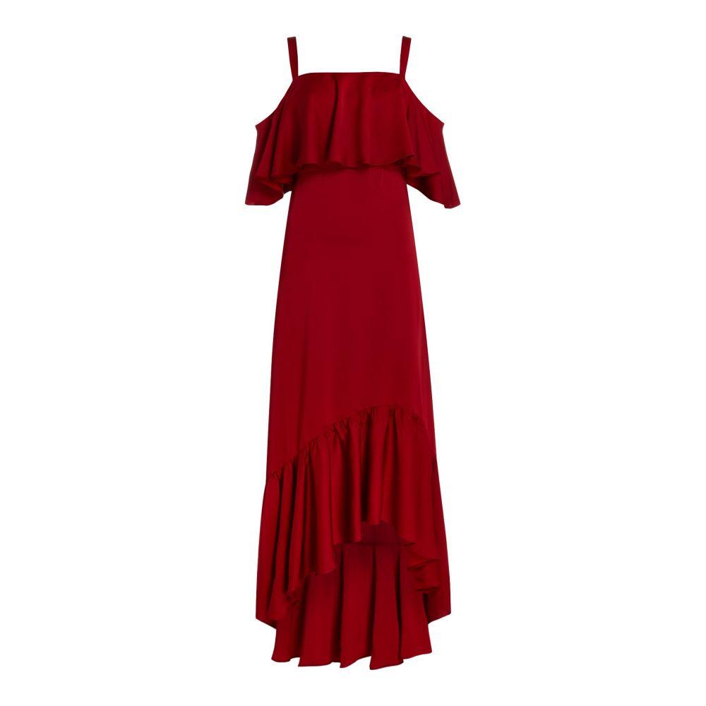 ジル スチュアート Jill Jill Stuart レディース ワンピース・ドレス ワンピース【Midi Dress With Satin Ruffles】red