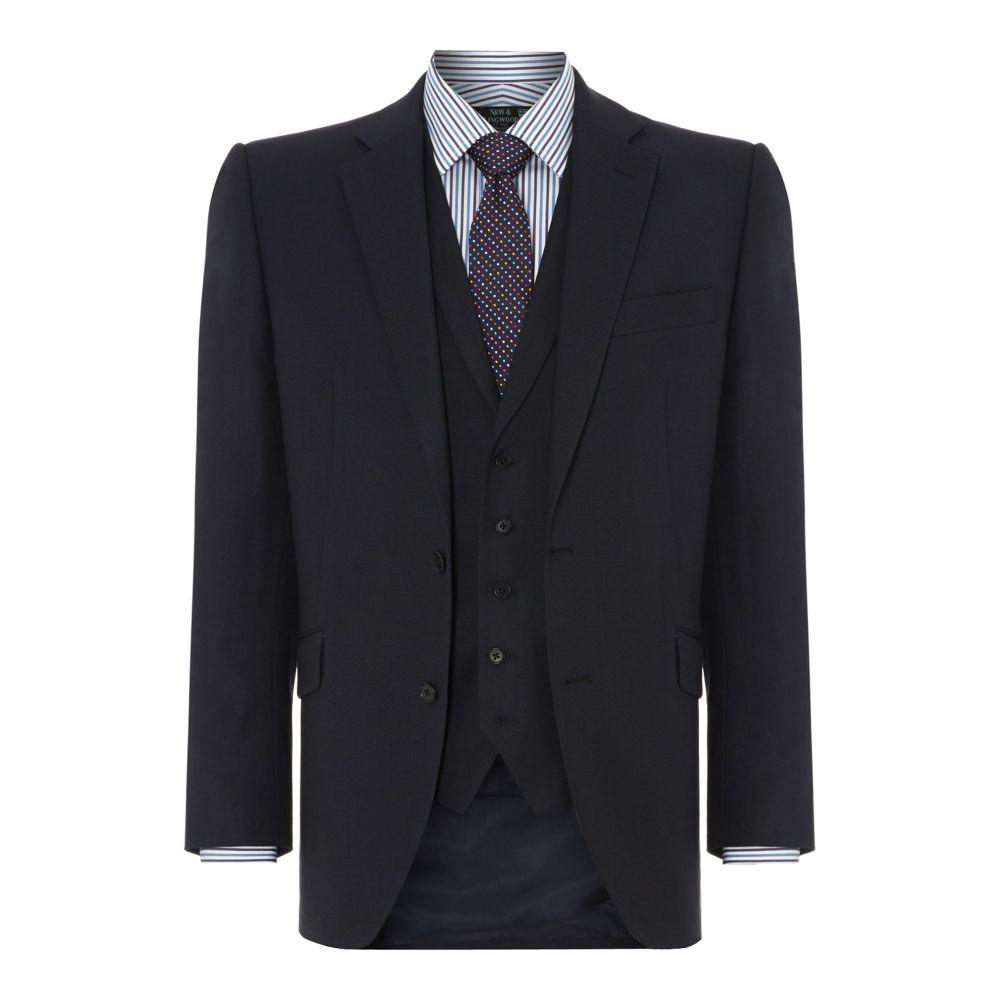 ニュー&リングウッド New & Lingwood メンズ アウター スーツ・ジャケット【Richmond Birdseye Suit Jacket】navy