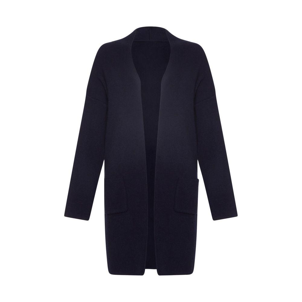 ユミ Yumi レディース トップス カーディガン【Oversized Longline Knitted Cardigan】navy