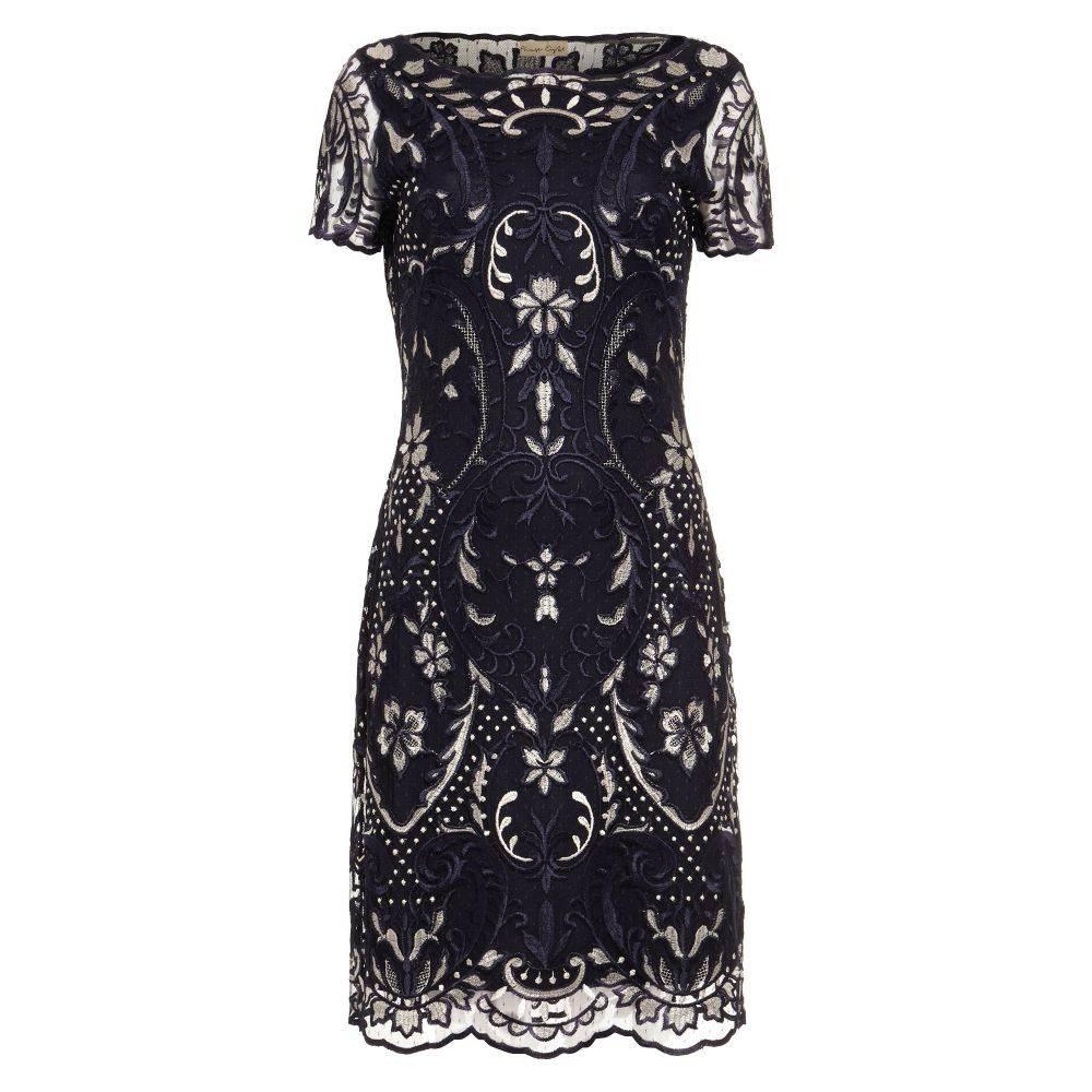 フェーズ エイト Phase Eight レディース ワンピース・ドレス ワンピース【Lizzy Embroidered Dress】navy