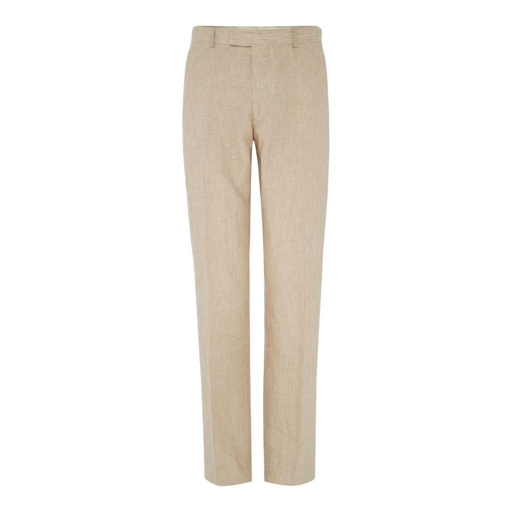 ハウィック Howick Tailored メンズ ボトムス・パンツ スラックス【Fabens Flat Front Linen Trousers】natural