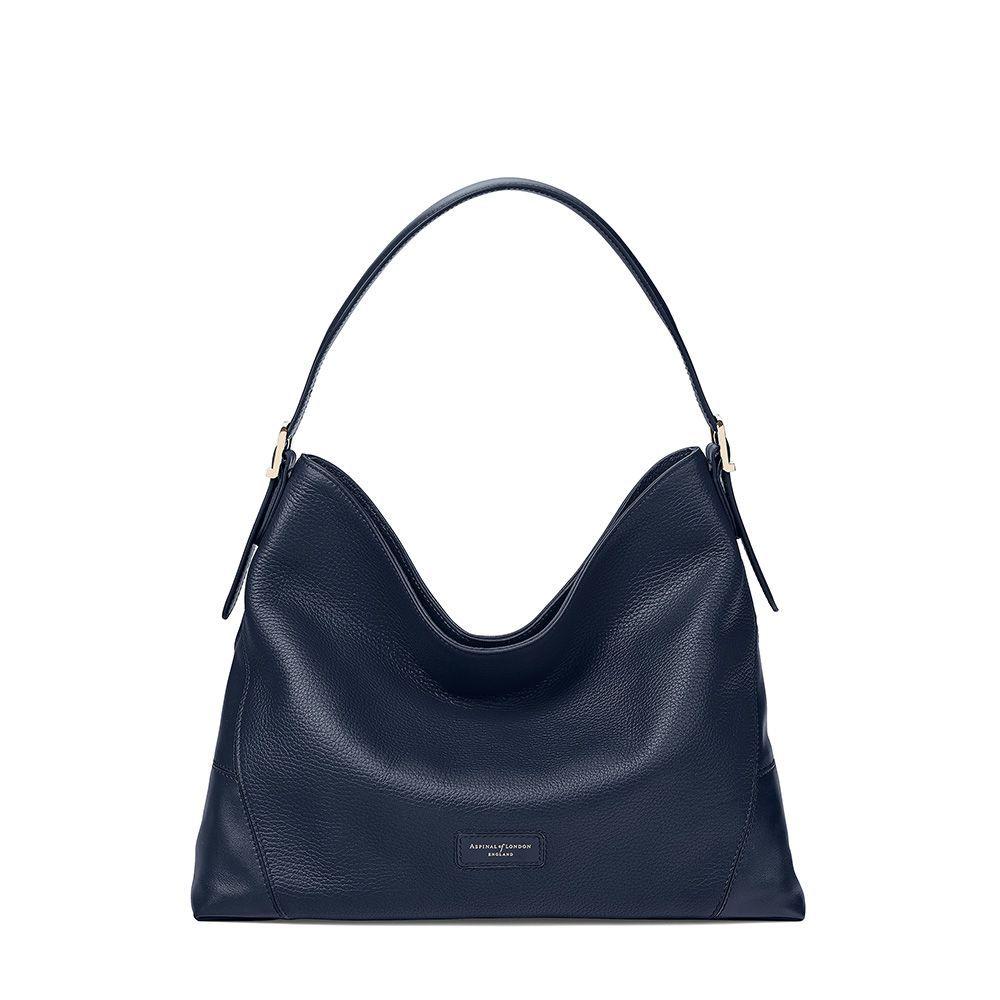 アスピナル オブ ロンドン Aspinal of London レディース バッグ ハンドバッグ【A Hobo Small Bag】navy