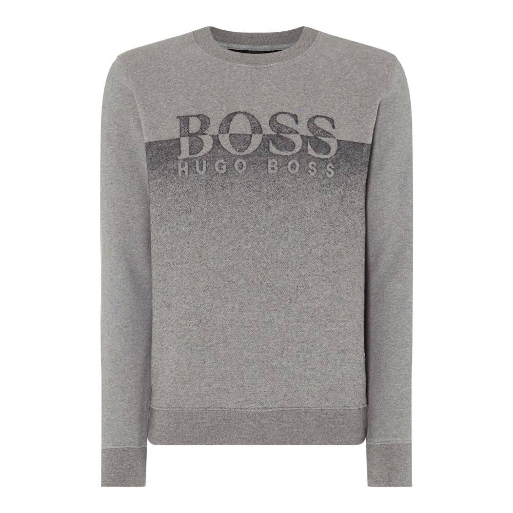 ヒューゴ ボス Hugo Boss メンズ トップス スウェット・トレーナー【Withmore Ombre Logo Sweatshirt】grey marl