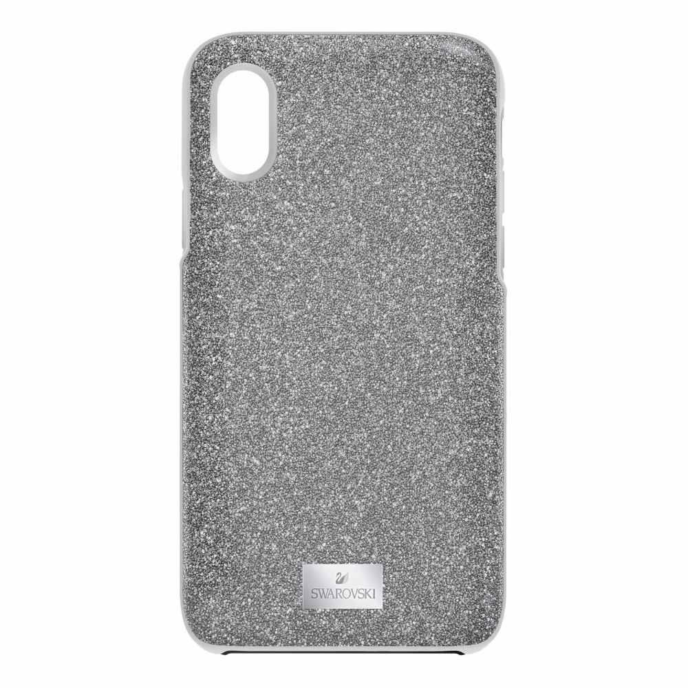 スワロフスキー Swarovski レディース iPhone (X)ケース【High Ipx:case Sis/sts】grey