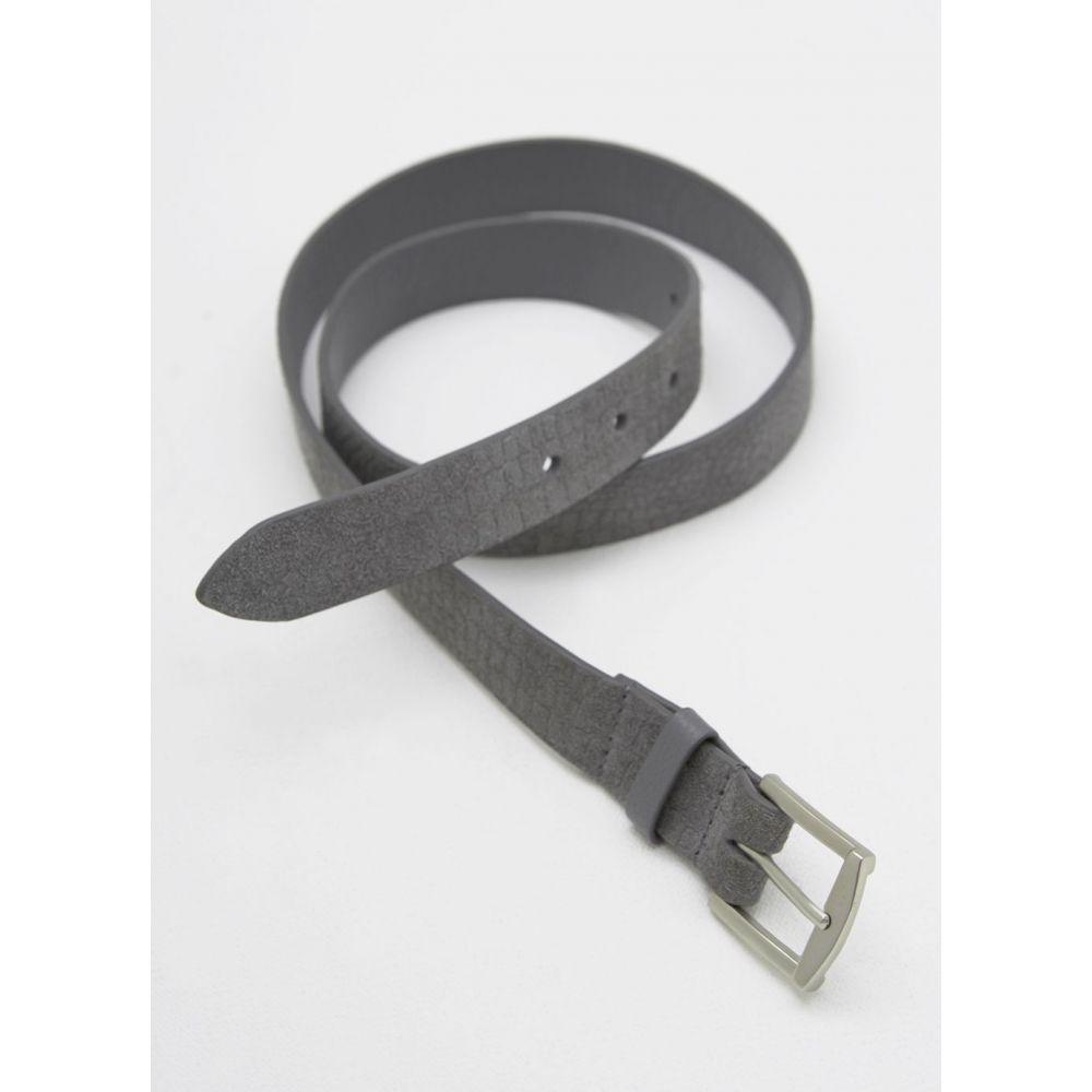 ミルトン ベルベット Mint Velvet レディース ベルト【Grey Snake Embossed Suede Belt】grey