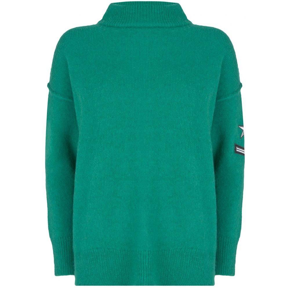ミルトン ベルベット Mint Velvet レディース トップス ニット・セーター【Jade Badge Detail Knit】green