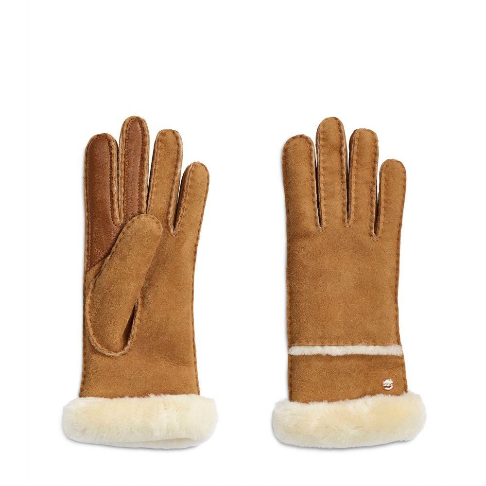 アグ UGG レディース 手袋・グローブ【Seamed Tech Glove With Turn Cuff】chestnut