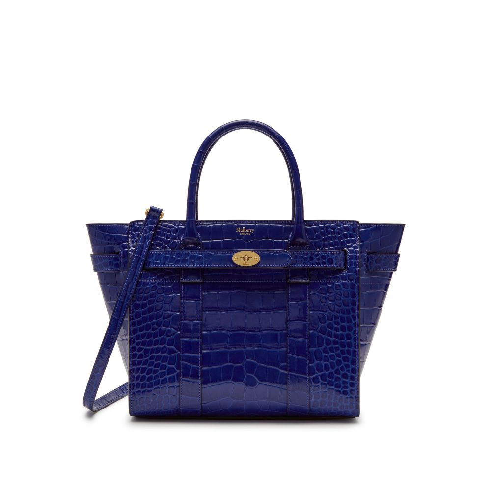 マルベリー Mulberry レディース バッグ ハンドバッグ【Small Zipped Bayswater Bag】cobalt