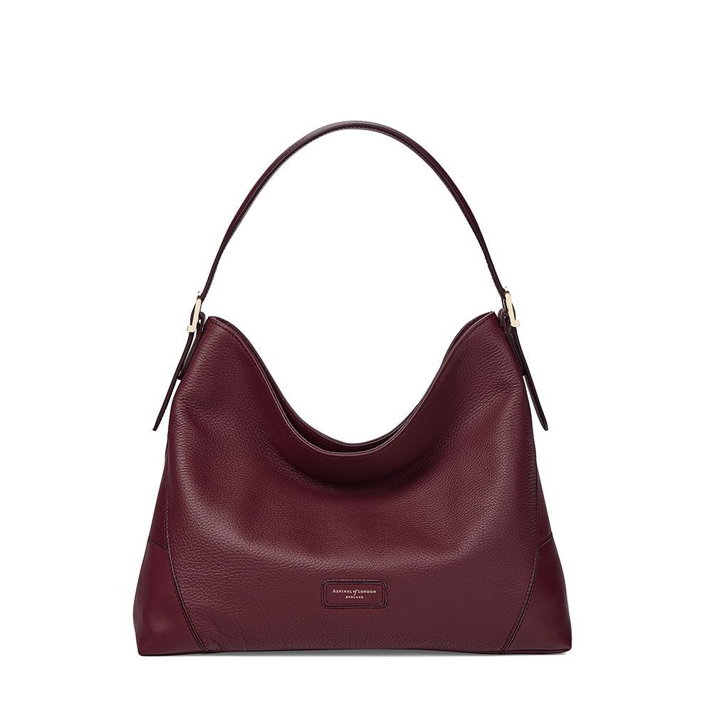 アスピナル オブ ロンドン Aspinal of London レディース バッグ ハンドバッグ【A Hobo Small Bag】bordeaux