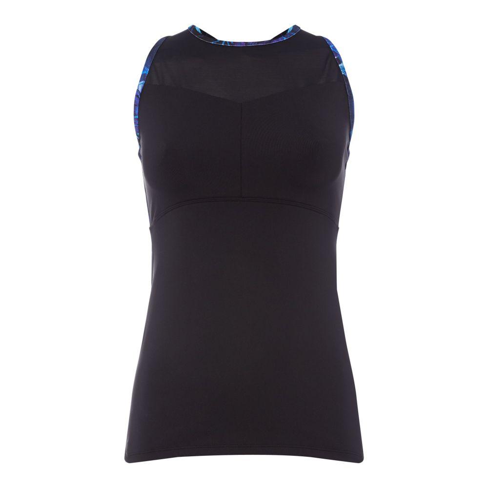 ビバ Biba レディース トップス タンクトップ【Navy Dark Jungle Cross Back Gym Vest】blue