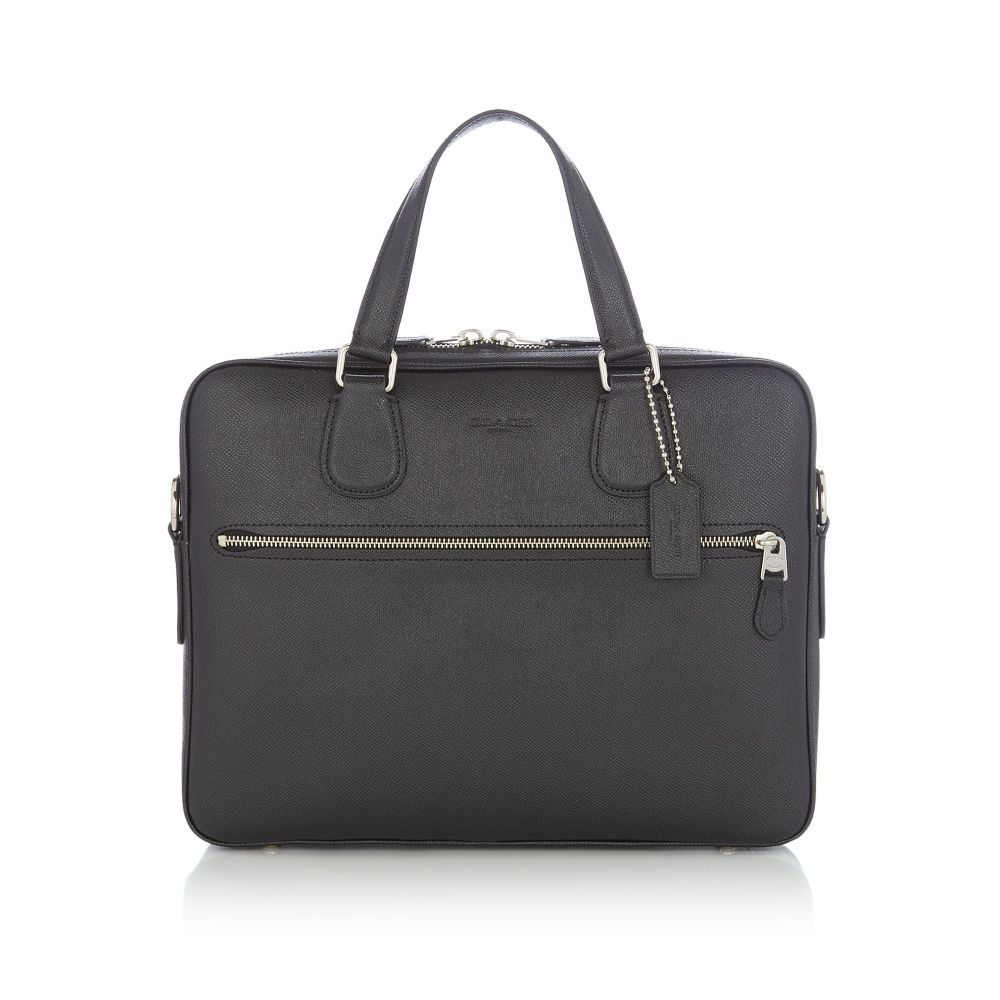 コーチ Coach メンズ バッグ ボストンバッグ・ダッフルバッグ【Hudson 5 Bag Crossgrain Zip Front Holdall】black & blue