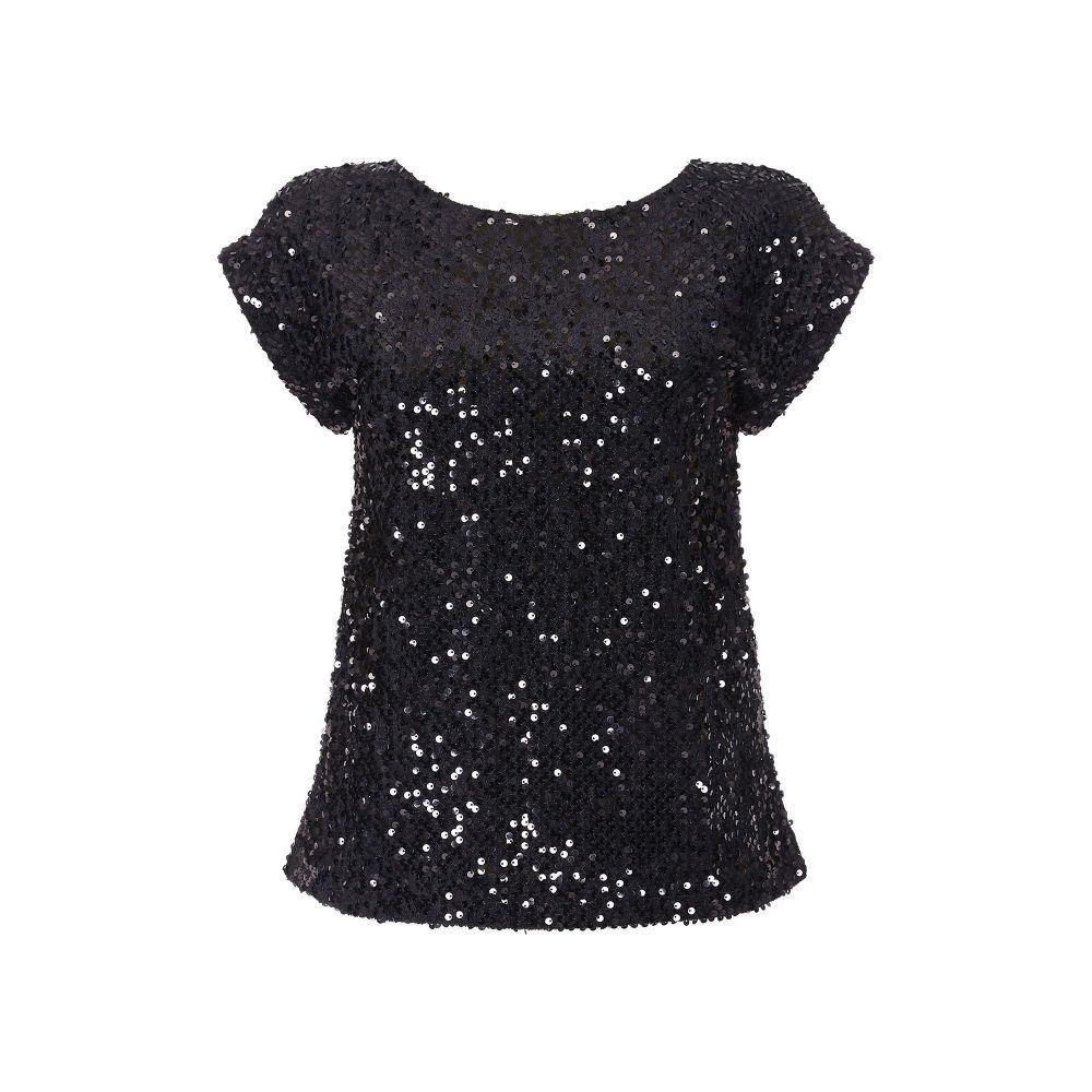 ユミ Yumi レディース スカート ひざ丈スカート【Sequined Embellished Skirt】black