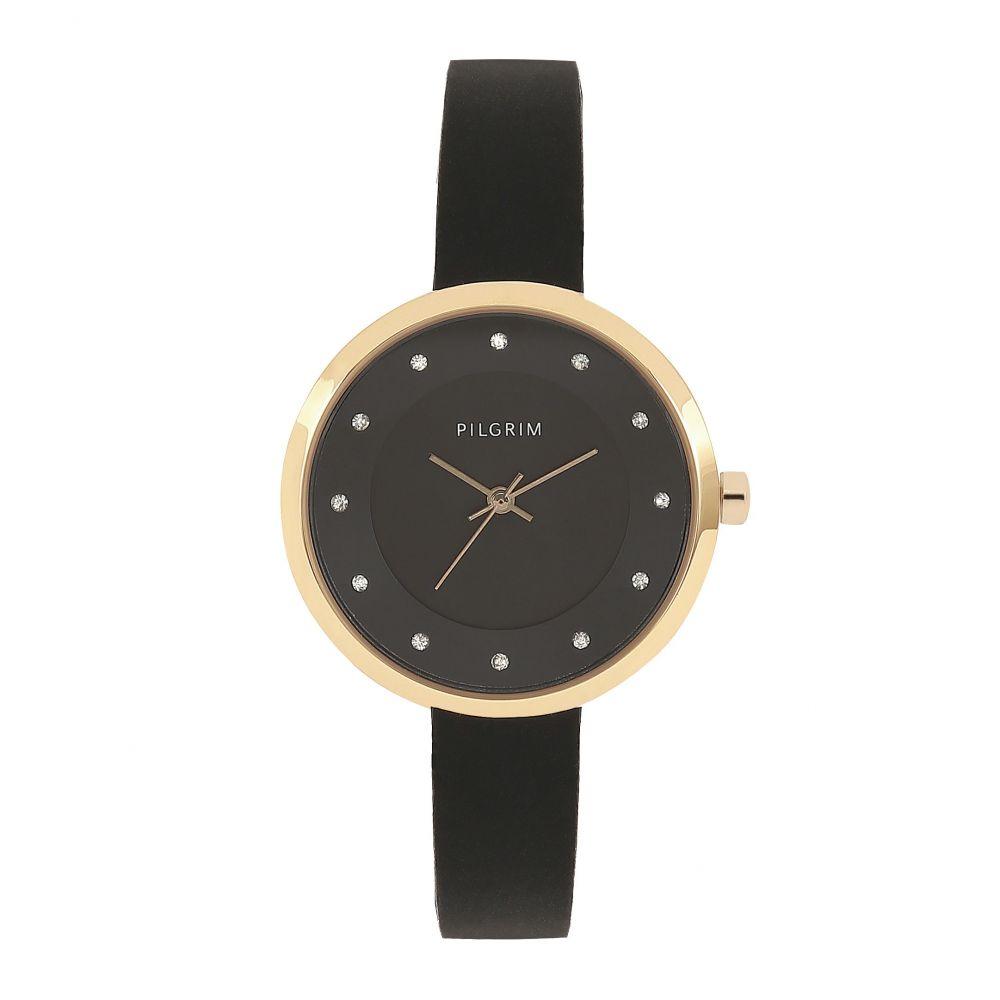 ピルグリム Pilgrim レディース 腕時計【Amy Gold Plated Black Watch】black