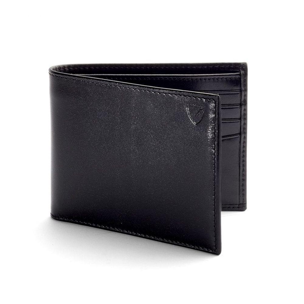 アスピナル オブ ロンドン Aspinal of London メンズ 財布【Men`s Billfold Wallet】black