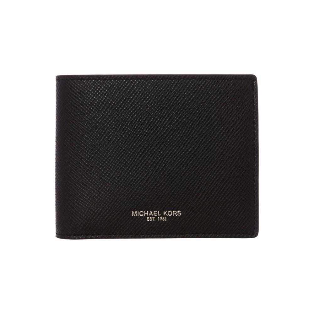マイケル コース Michael Kors メンズ 財布【Billfold Crossgrain Leather Wallet】black