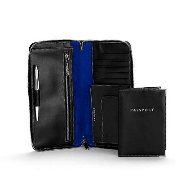アスピナル オブ ロンドン Aspinal of London ユニセックス パスポートケース【Zipped Travel Wallet With Passport Cover】black
