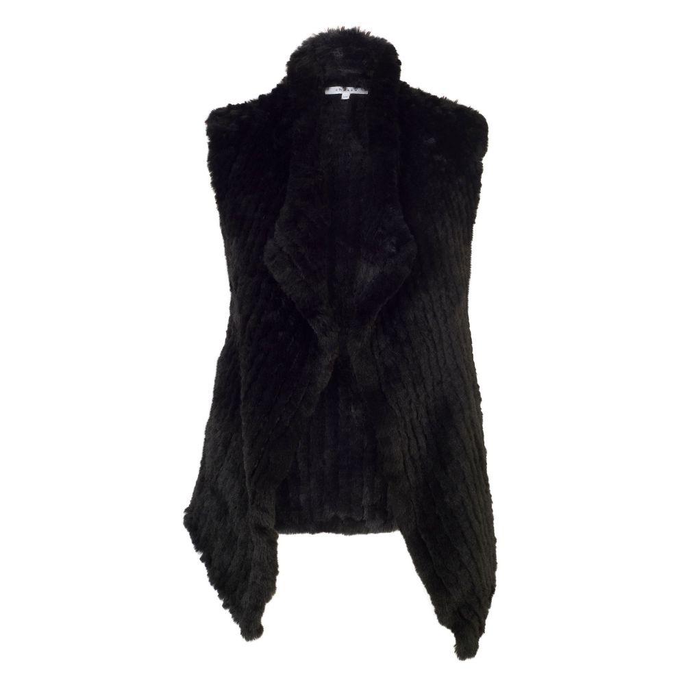 チェスカ Chesca レディース トップス ベスト・ジレ【Faux Fur Gilet】black