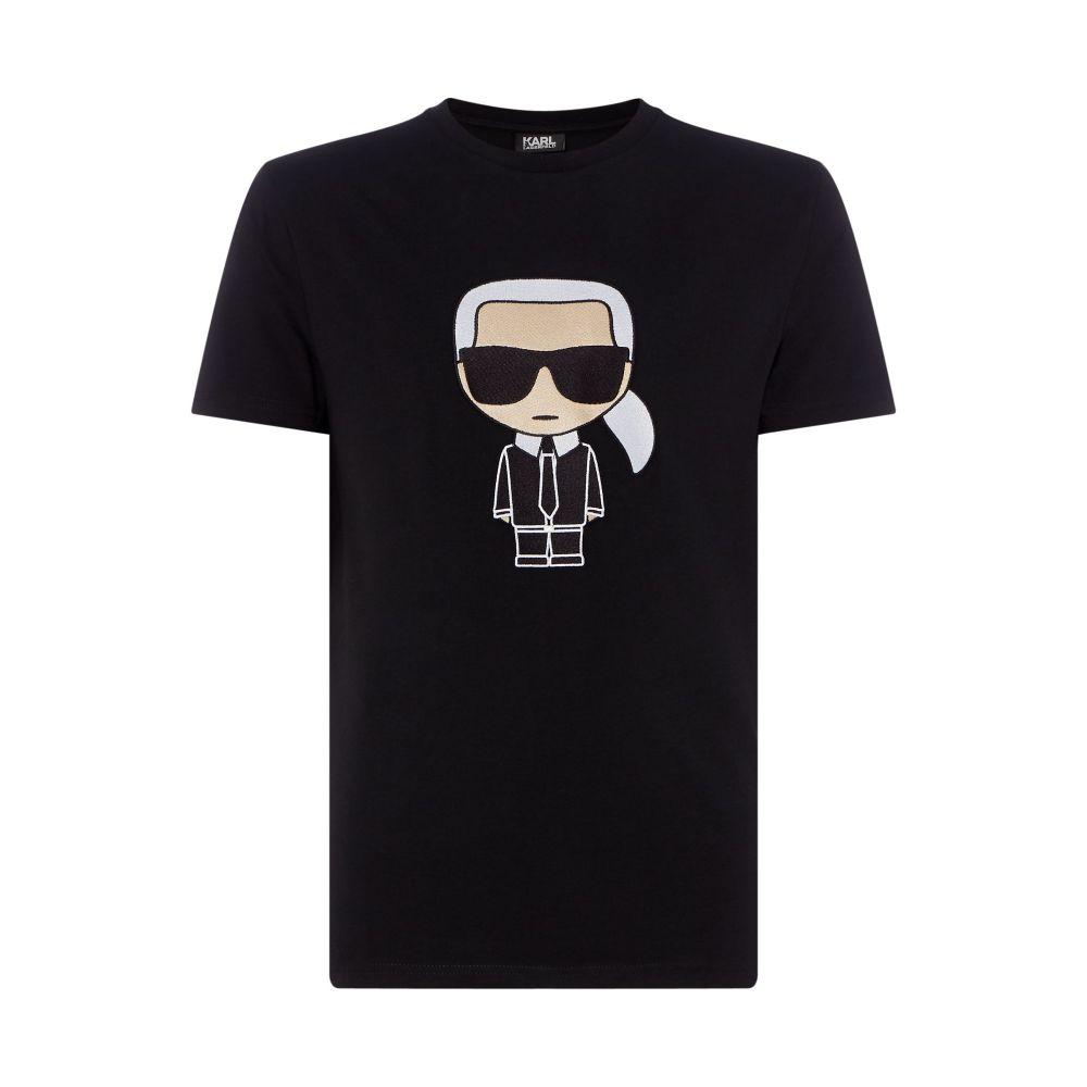 カール ラガーフェルド Karl Lagerfeld メンズ トップス Tシャツ【Large Embroidered Karl T-shirt】black
