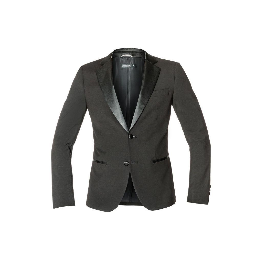 アントニー モラート Antony Morato メンズ スキー・スノーボード アウター【Super Slim Jacket With Satin Lapels】black