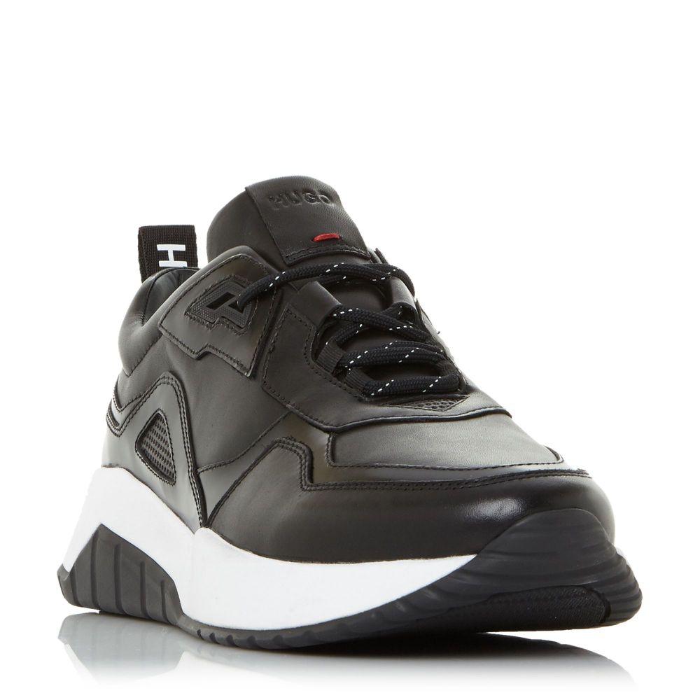 クラシック ヒューゴ Leather ボス ボス Hugo Boss メンズ ランニング・ウォーキング シューズ メンズ・靴【Atom Leather Runners】black, 白馬スポーツ:ef8510ce --- konecti.dominiotemporario.com