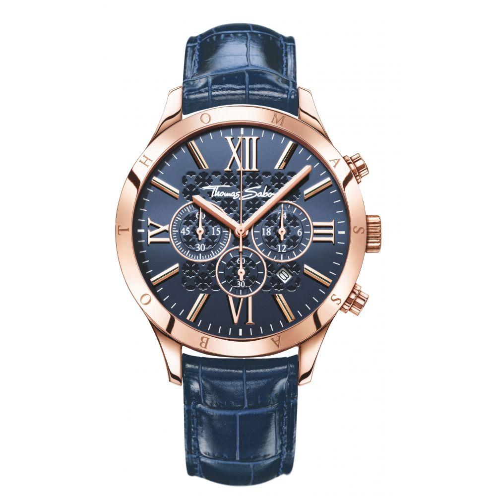 トーマスサボ Thomas Sabo メンズ 腕時計【Rebel At Heart Blue Chronograph Watch】