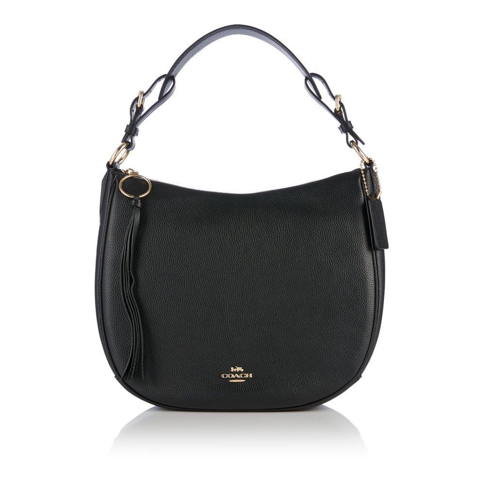 コーチ Coach レディース バッグ ハンドバッグ【Sutton Leather Hobo Bag】black