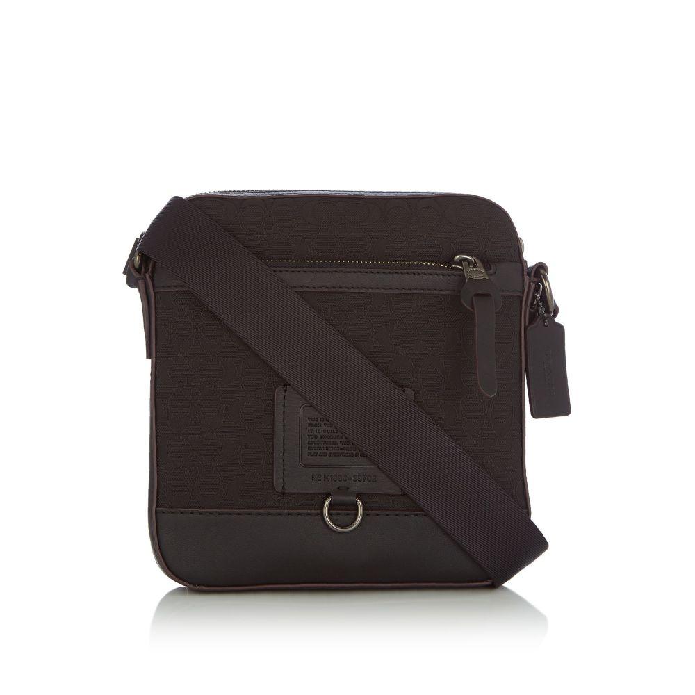 コーチ Coach メンズ バッグ メッセンジャーバッグ【Kent Signature Print Crossbody Bag】black