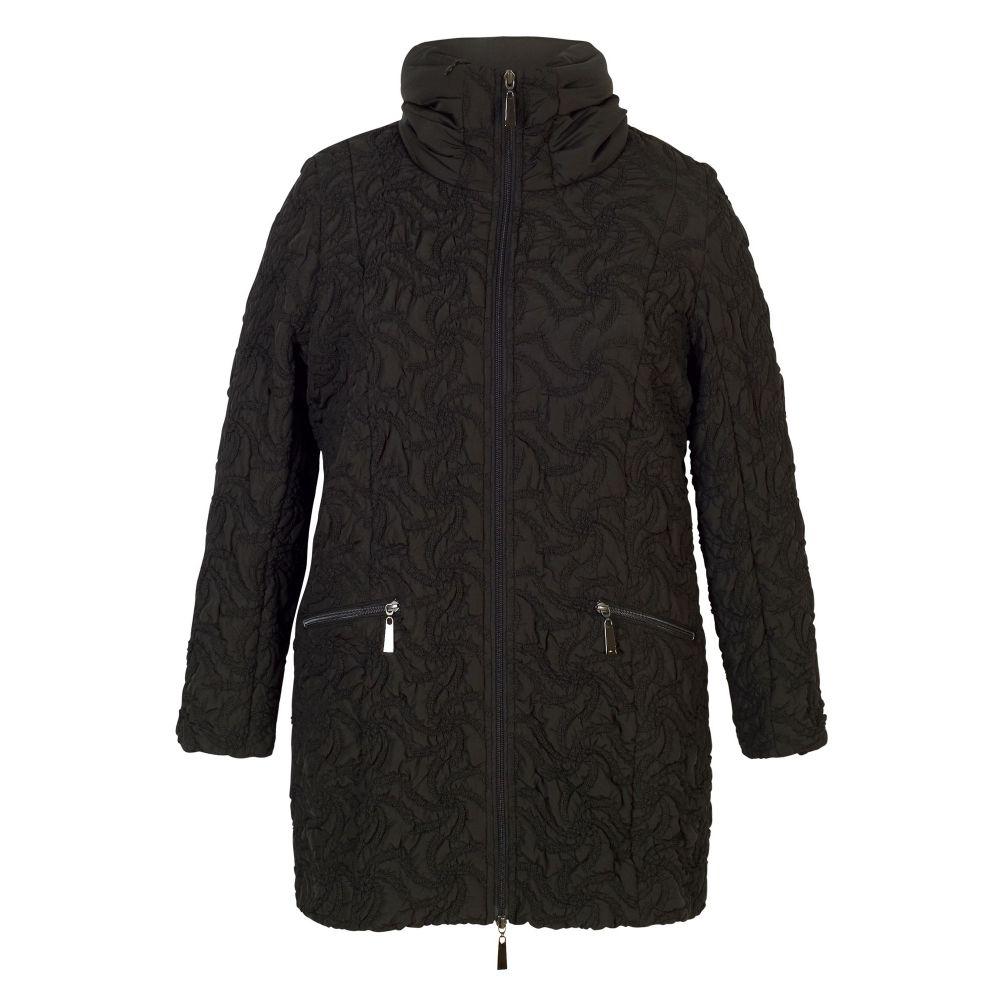 チェスカ Chesca レディース アウター コート【Embroidered Quilted Coat】black