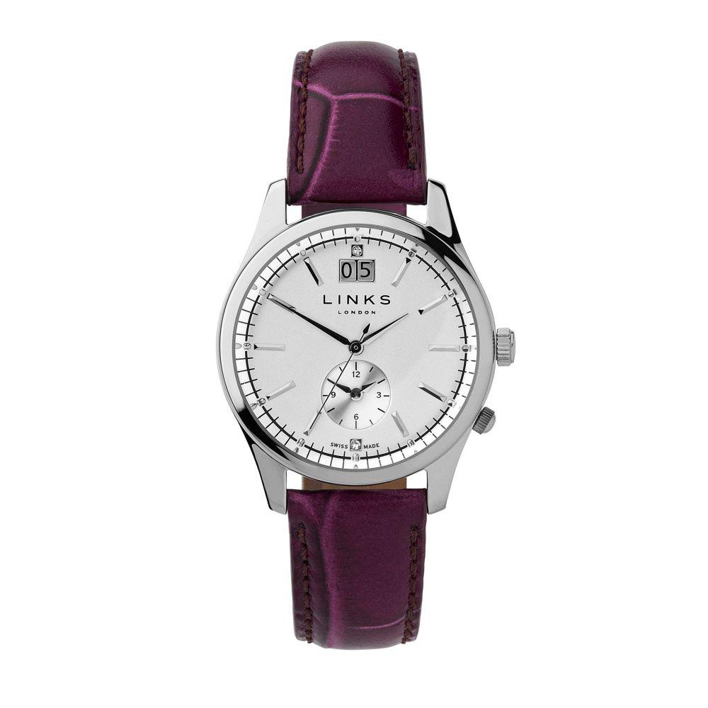 リンクス オブ ロンドン Links of London レディース 腕時計【Regent Silver Dial Purple Strap Watch】