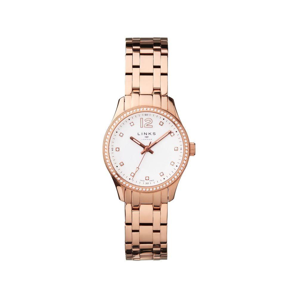リンクス オブ ロンドン Links of London レディース 腕時計【Greenwich Rose Gold Tone & Crystal Watch】rose gold