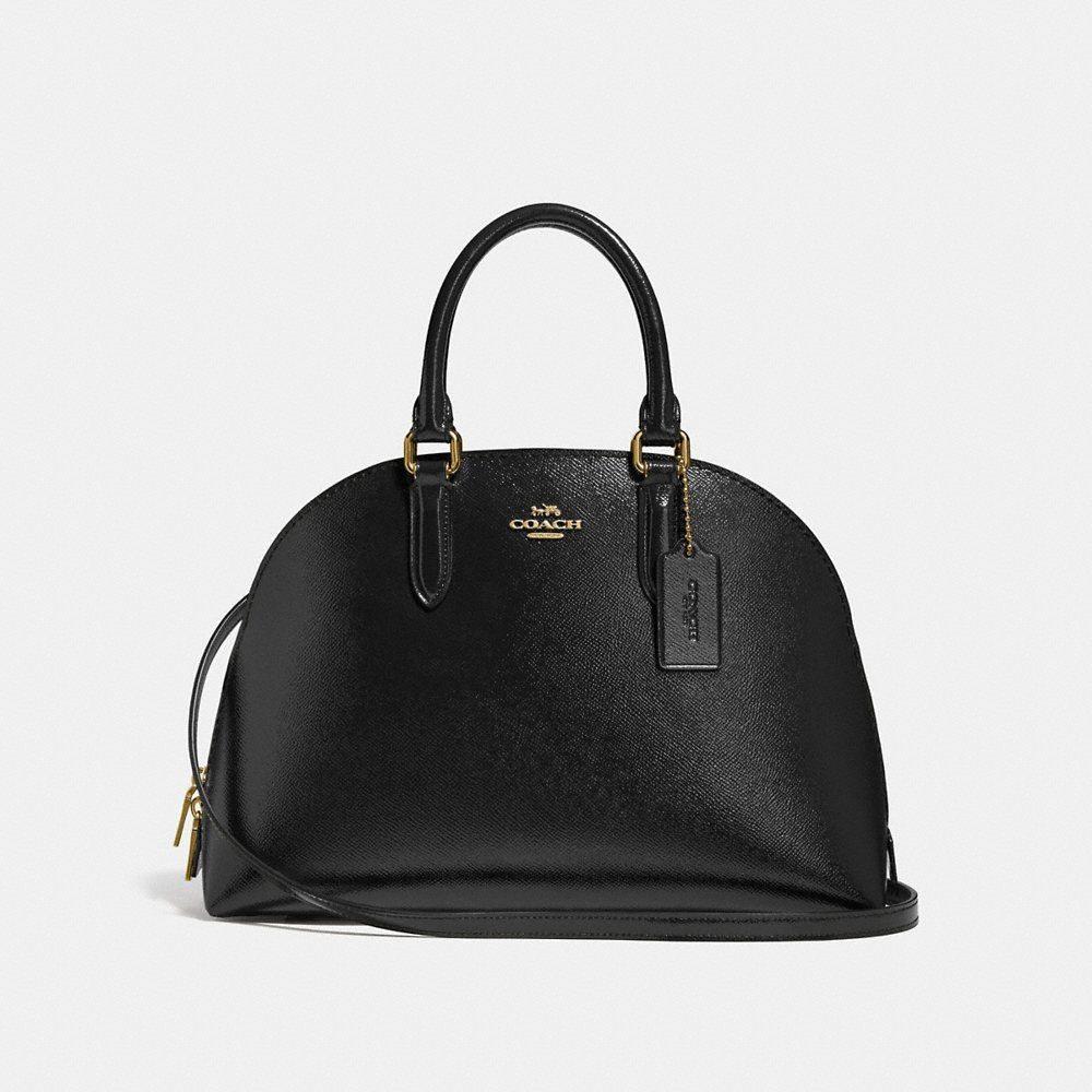 コーチ Coach レディース Coach バッグ ハンドバッグ Bag】black【Quinn Leather Satchel コーチ Bag】black, アシガワムラ:1905502d --- sunward.msk.ru