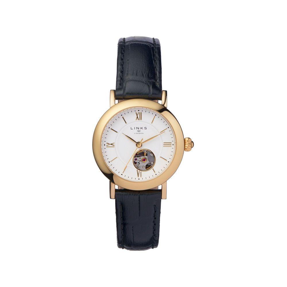 リンクス オブ ロンドン Links of London レディース 腕時計【Noble Leather Watch】black