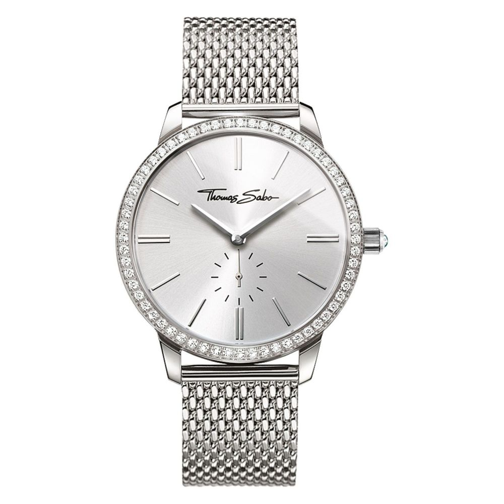トーマスサボ Thomas Sabo レディース 腕時計【Glam Spirit Zirconia Mesh Watch】silver metallic