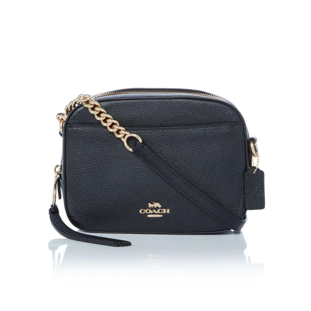 コーチ Coach レディース バッグ【Pebbled Leather Camera Bag】black