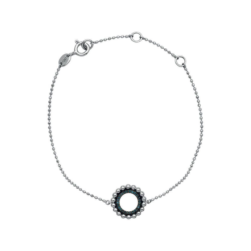 リンクス オブ ロンドン Links of London レディース ジュエリー・アクセサリー ブレスレット【Sterling Silver & Blue Diamond Bracelet】silver metallic