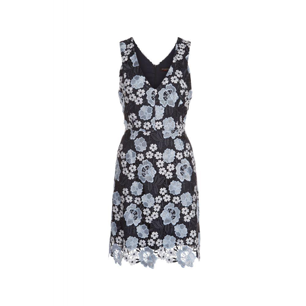 デックスクロージング Dex Clothing レディース ワンピース・ドレス パーティードレス【Sleeveless Embroidered Dress】blue